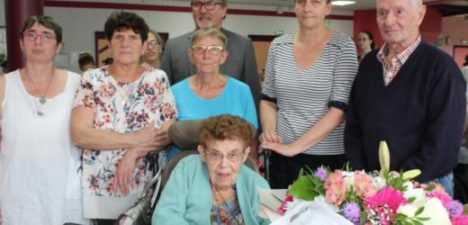 Une centenaire de plus aux Vertes Années